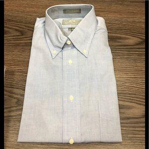 b7621ae32 Stafford NWT Solid Blue Oxford Dress Shirt 15-35
